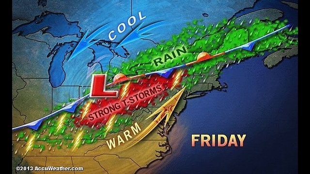 Warm temps will give way to showers, heavy t-storms later