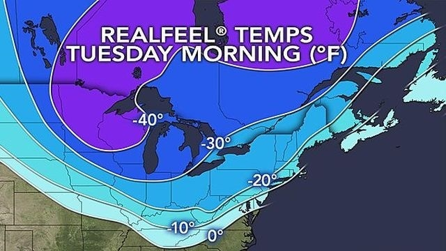 Region dealt another wind-driven blast of Arctic air