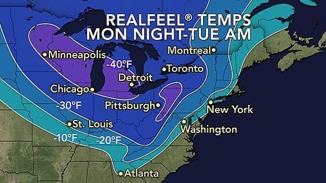 Arctic air, wind to make it feel like 15-25 degrees below 0 overnight