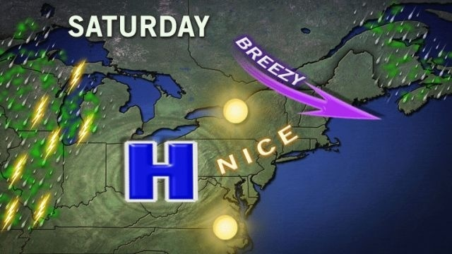 Chance for rain remains Friday, makes way for beautiful Saturday