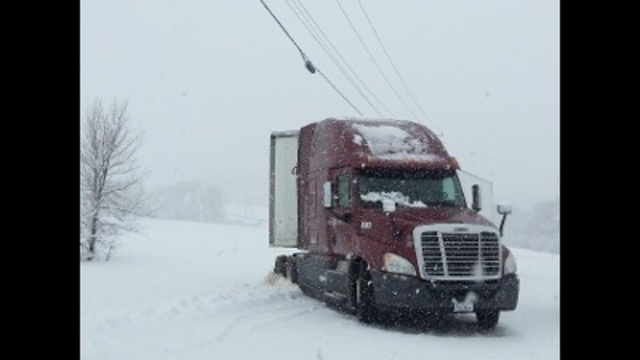 Tractor Trailer Slid Off Road_24262432