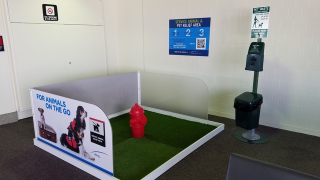 Philadelphia International Airport offers relief to pets that have to go while on the go