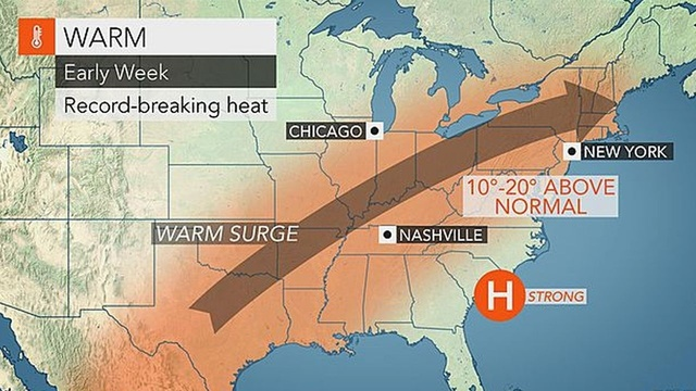 Record-challenging warmth Tuesday, Wednesday