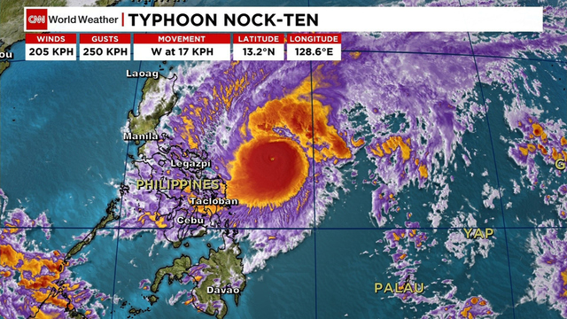 Typhoon Nock-ten lashes central Philippines, cuts power