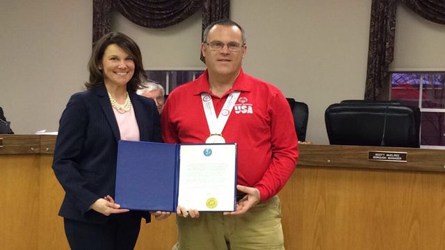 Quakertown Council honors hometown gold medalist