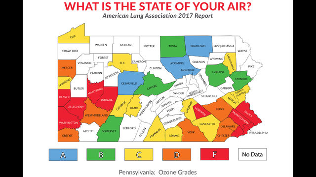 Air quality improving in Lehigh Valley