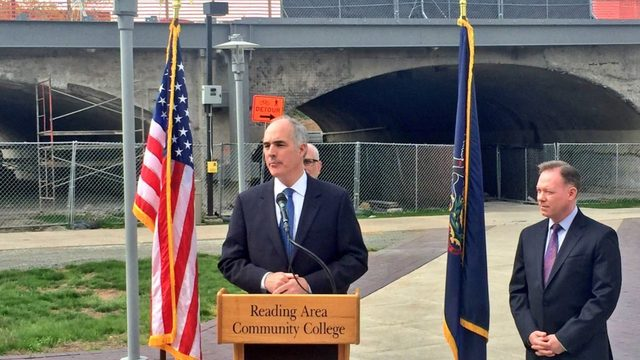 Casey in Reading: 'We're ready to fight you' on infrastructure