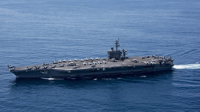 Navy Orders 3rd Carrier to Join USS Carl Vinson Off Korea
