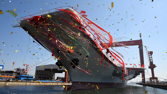 China launches first domestically developed aircraft carrier