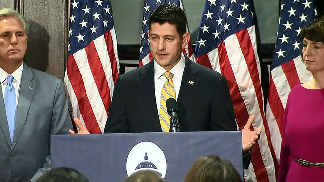Ryan seeks to refocus GOP amid White House drama