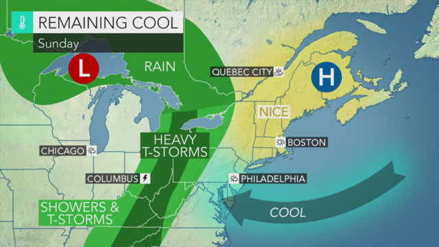 Showers and Thunderstorms Through Wednesday; Much Nicer Heading into Holiday Weekend