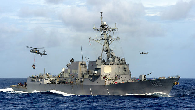 U.S.  warship sails close to South China Sea reef claimed by Beijing