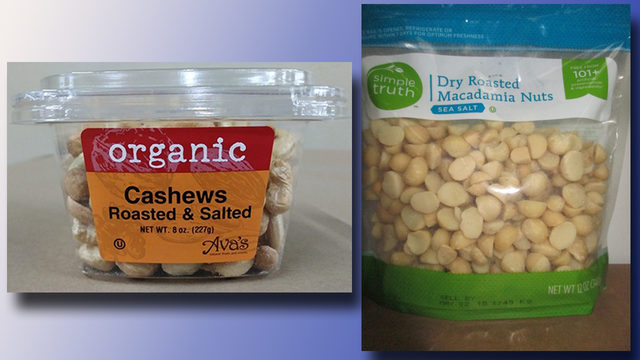 Macadamia nuts sold at Kroger under recall notice