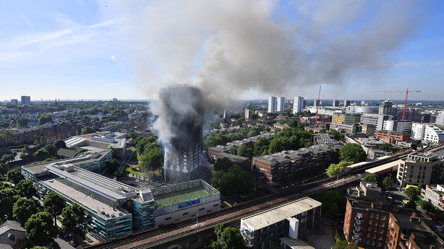 London fire: Images show charred horror of aftermath of Grenfell Tower inferno