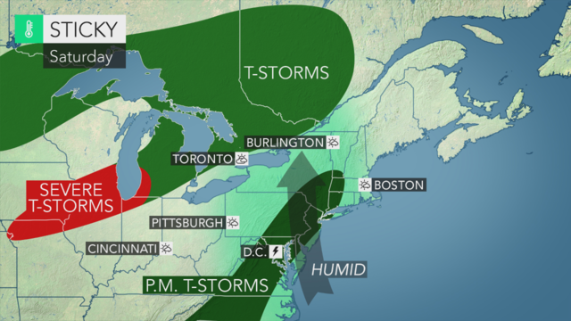 Sunday's forecast: Father's Day sunshine with low humidity