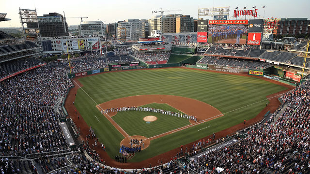 Injured Capitol Police officer throws out first pitch in emotional moment