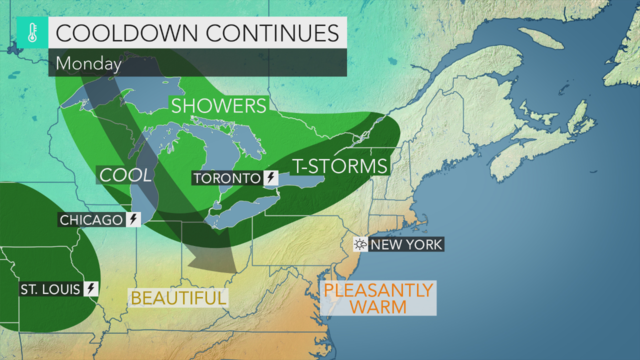 Sunday to have strong possibilities for afternoon showers