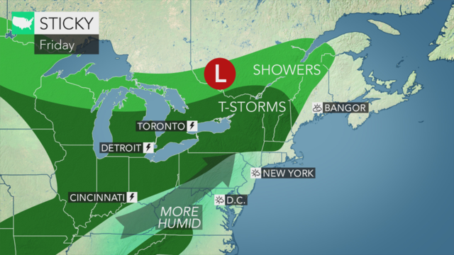 This weekend will bring high humidity and high temperatures