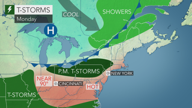 Showers, thunderstorms possible as weekend approaches