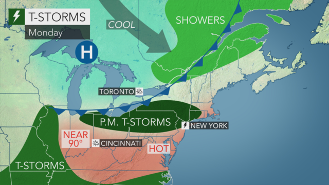 Fourth of July weather: Scattered showers and thunderstorms, heavy rain possible