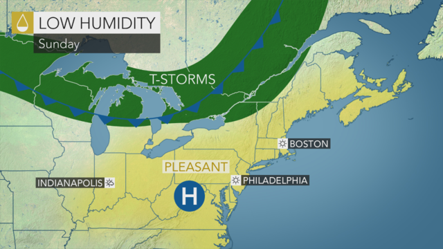 Tuesday's weather forecast: Rain, heat and humidity