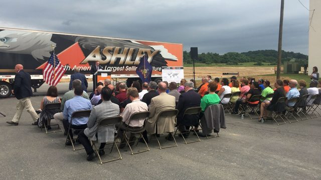 Ashley Furniture Breaks Ground On Expansion Project Wfmz