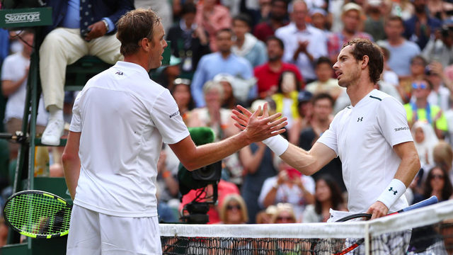 Wimbledon: Injured Andy Murray bundled out in quarter-finals by Sam Querrey
