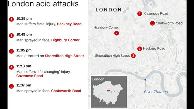 Teenager charged over east London 'acid attack'