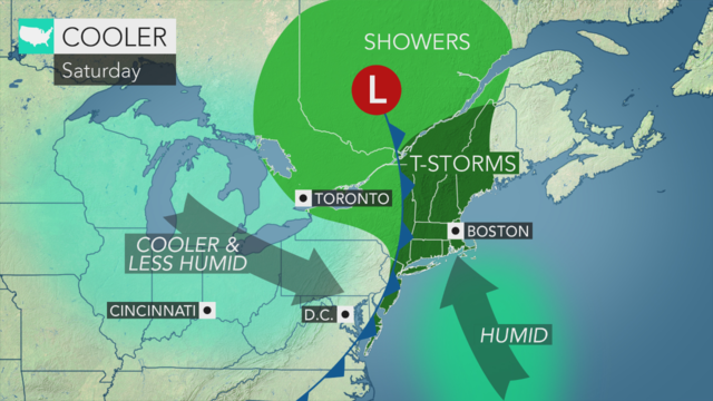 Long Island forecast: Warm, humid with shower chance