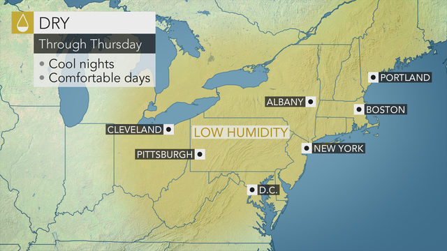 Rising Temperatures Stretch Into Thursday