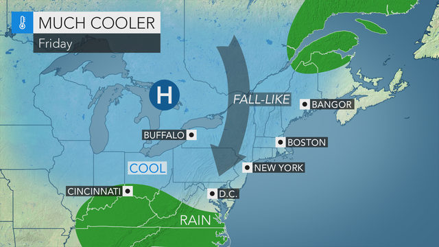 Cold, rainy start to Labor Day Weekend expected for the midstate