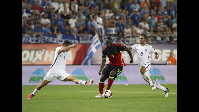 Romelu Lukaku's goal celebration was aimed at 'irritating' Greece fans