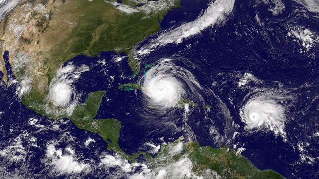 There are 3 hurricanes in the Atlantic right now