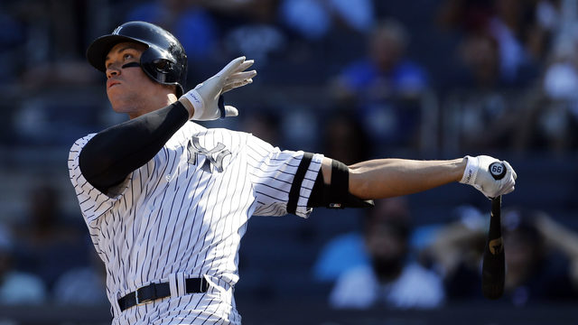 Aaron Judge breaks Major League Baseball rookie home run record with 50th of season