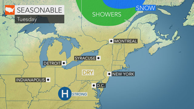 Tons of seasonably cool sun on Tuesday after some early morning frost
